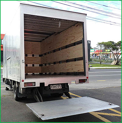 Hire a truck with tail lift